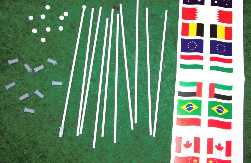 Flags for Slot car tracks