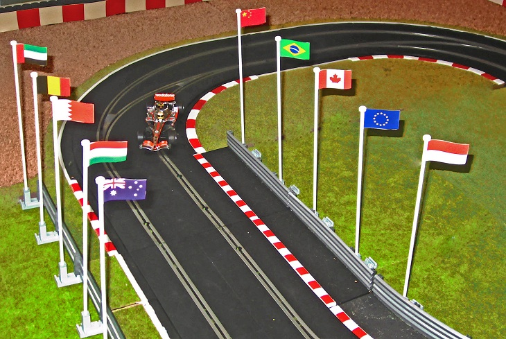 Flags for Slot car tracks