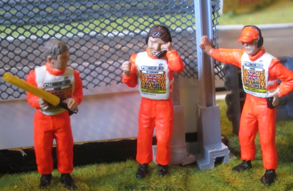 Fig. 10 Three Marshal figures with decals and flags