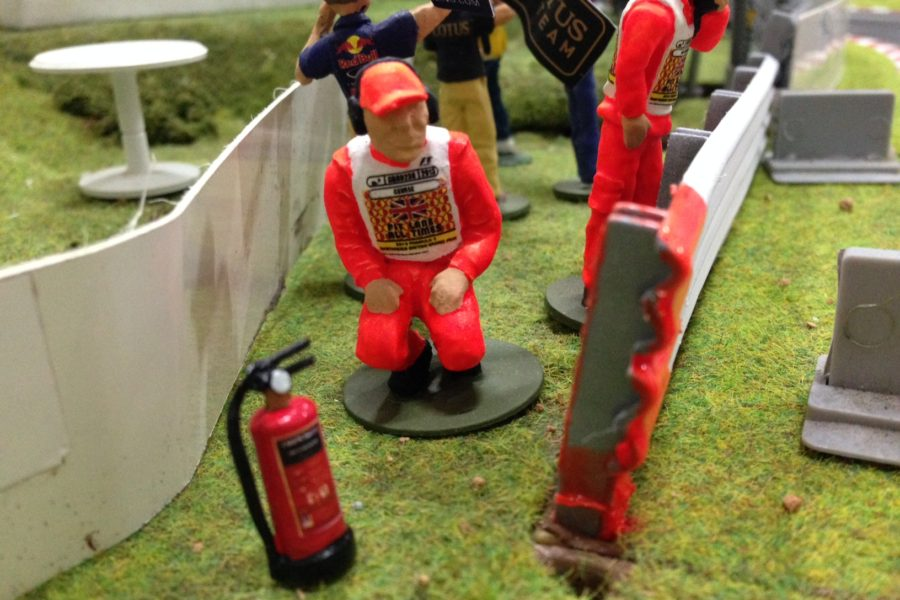 Fire extinguishers in a Marshals' post
