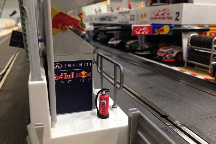 Fire extinguishers on the Pit Wall