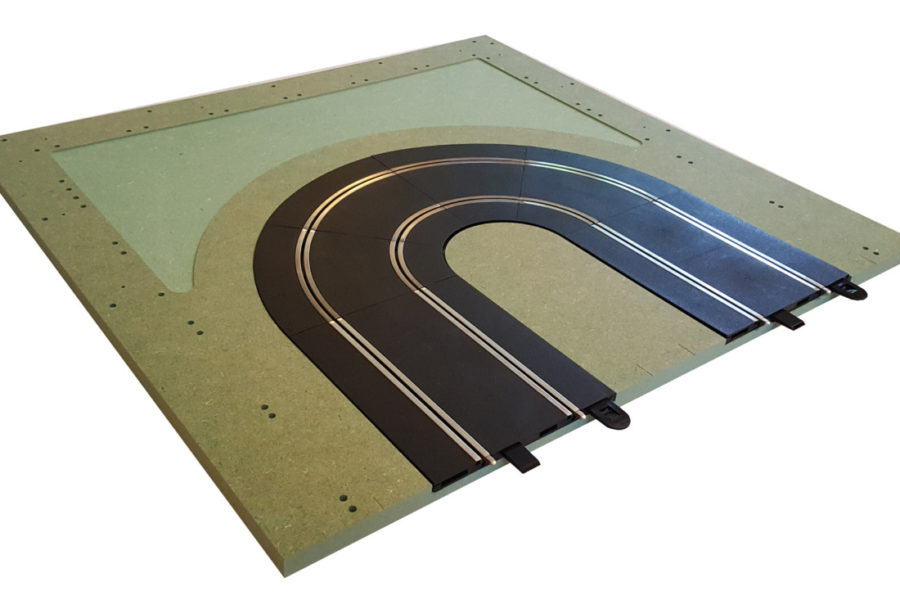 MTP – 6 : Hairpin.  Bare panel with track