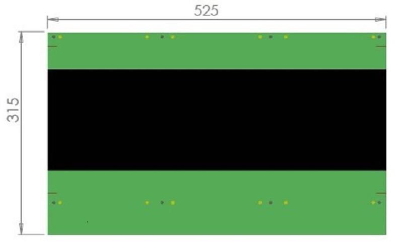 MTP - 5 : Full straight. Dimensions.